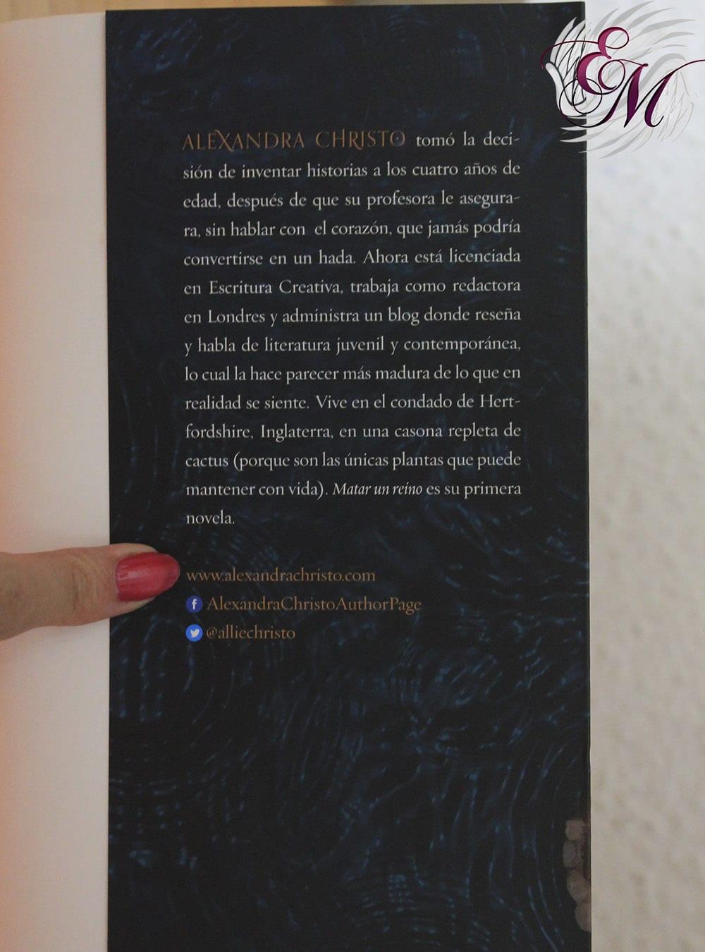Matar un reino, de Alexandra Christo - Reseña