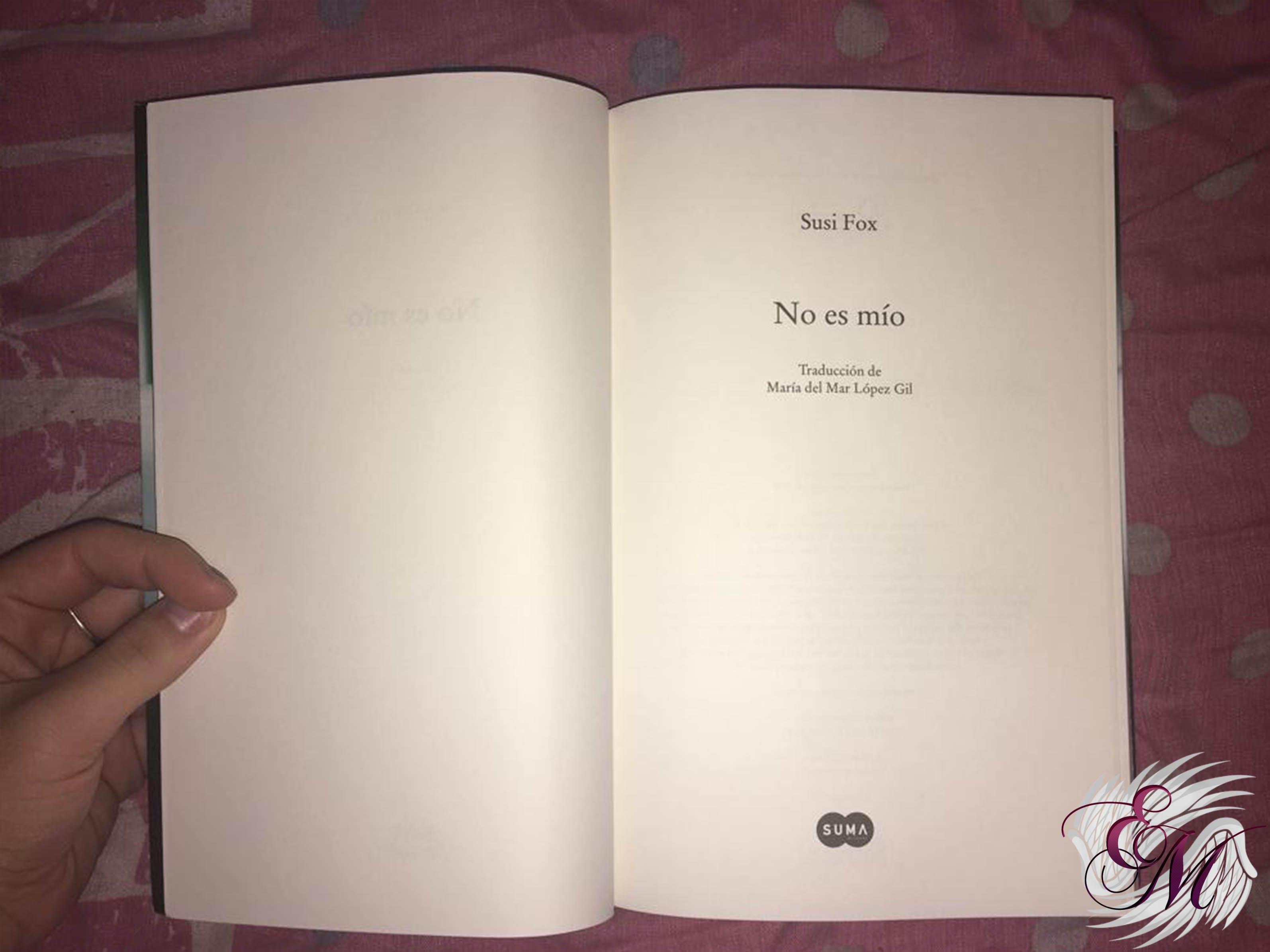 No es mío, de Susi Fox - Reseña