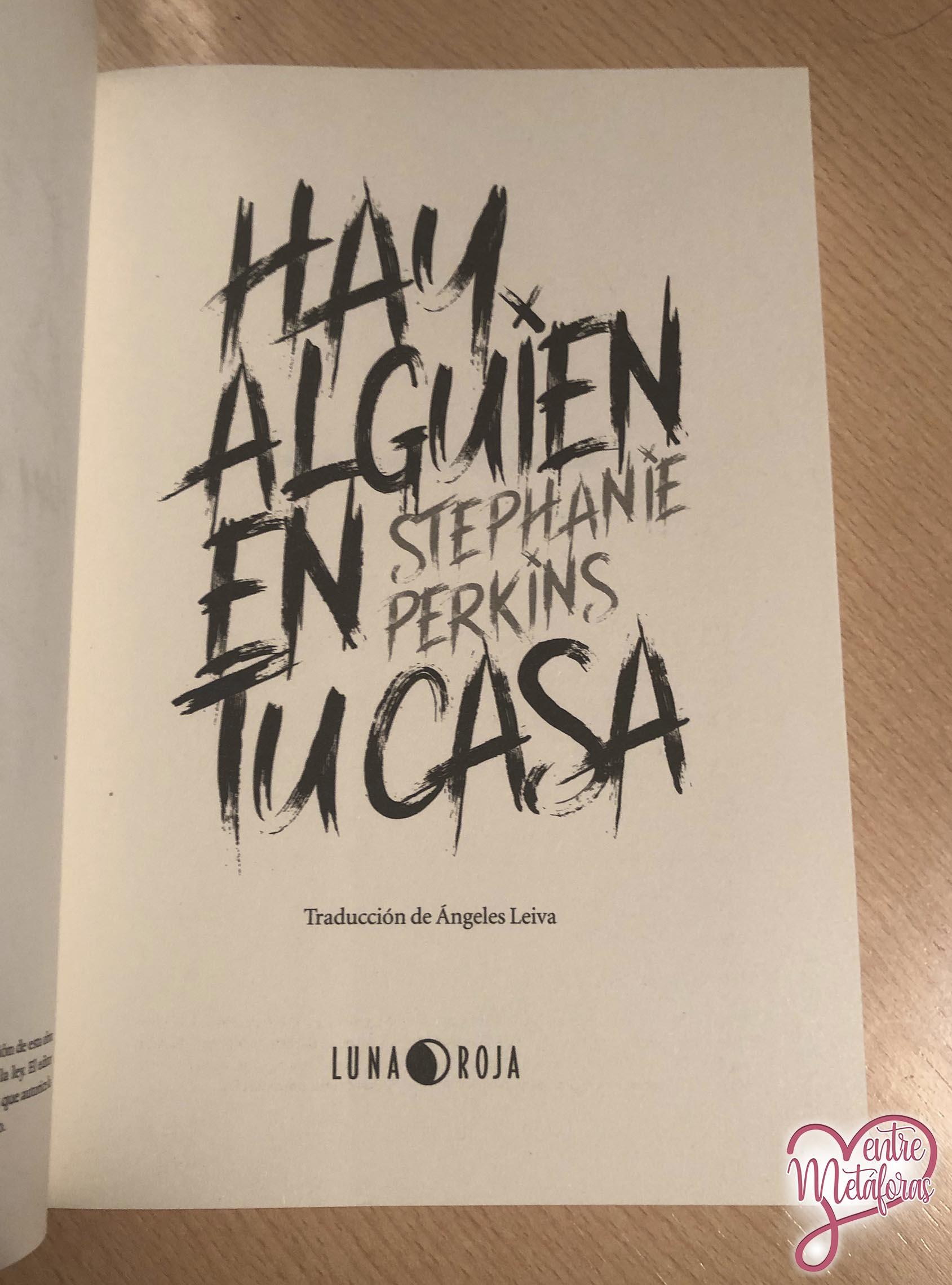 Hay alguien en tu casa, Stephanie Perkins - Reseña