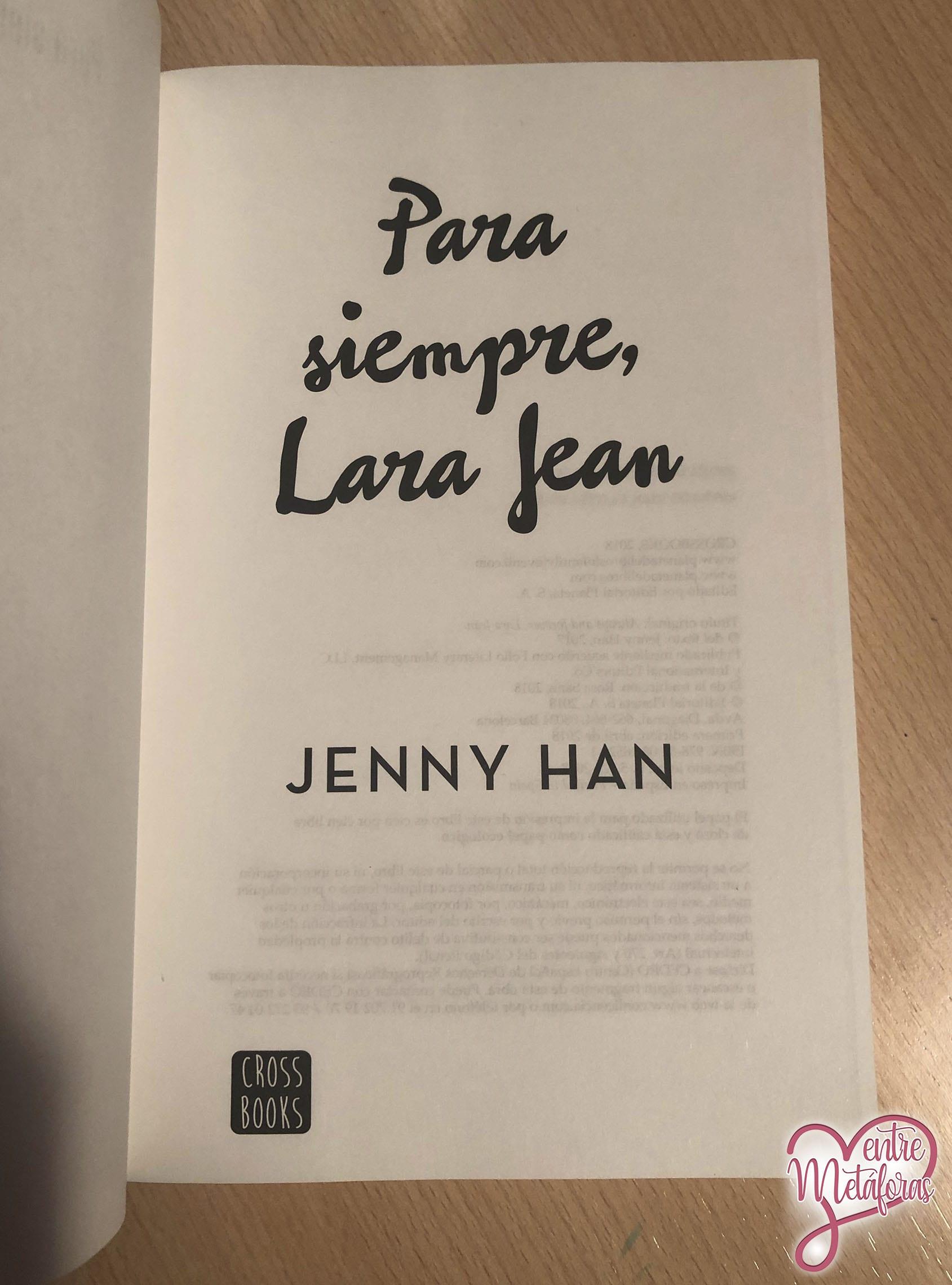 Para siempre, Lara Jean; de Jenny Han - Reseña