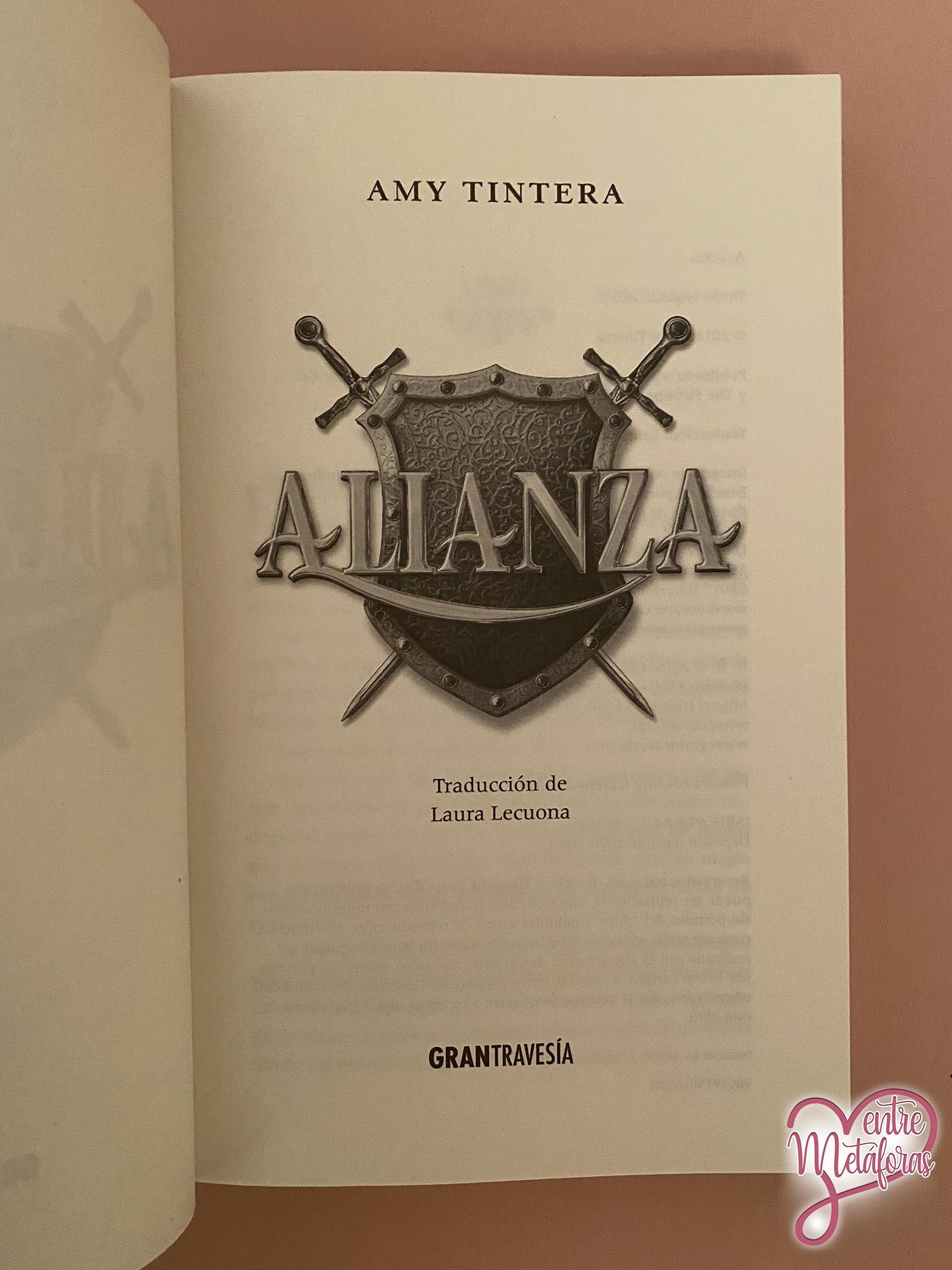 Alianza, de Amy Tintera - Reseña