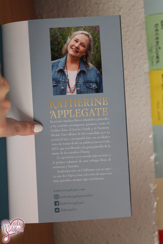 La superviviente, de Katherine Applegate - Reseña