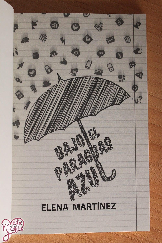 Bajo el paraguas azul, de Elena Martínez - Reseña