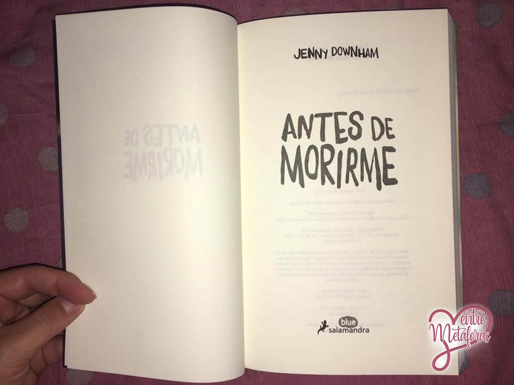 Antes de morirme, de Jenny Downham - Reseña