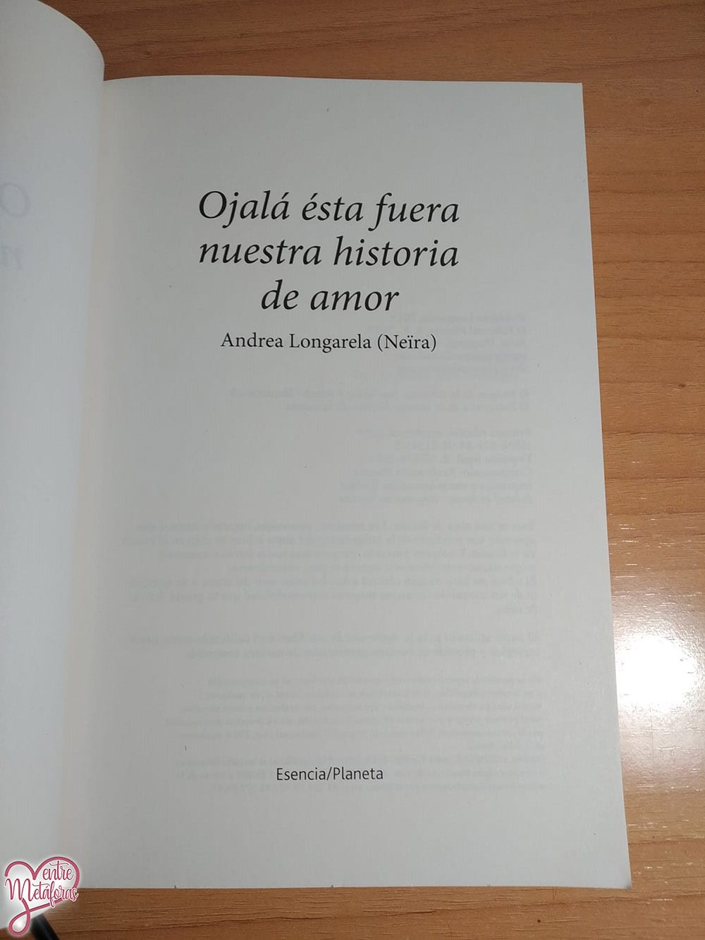 Ojalá esta fuera nuestra historia de amor, Andrea Longarela (Neïra) - Reseña