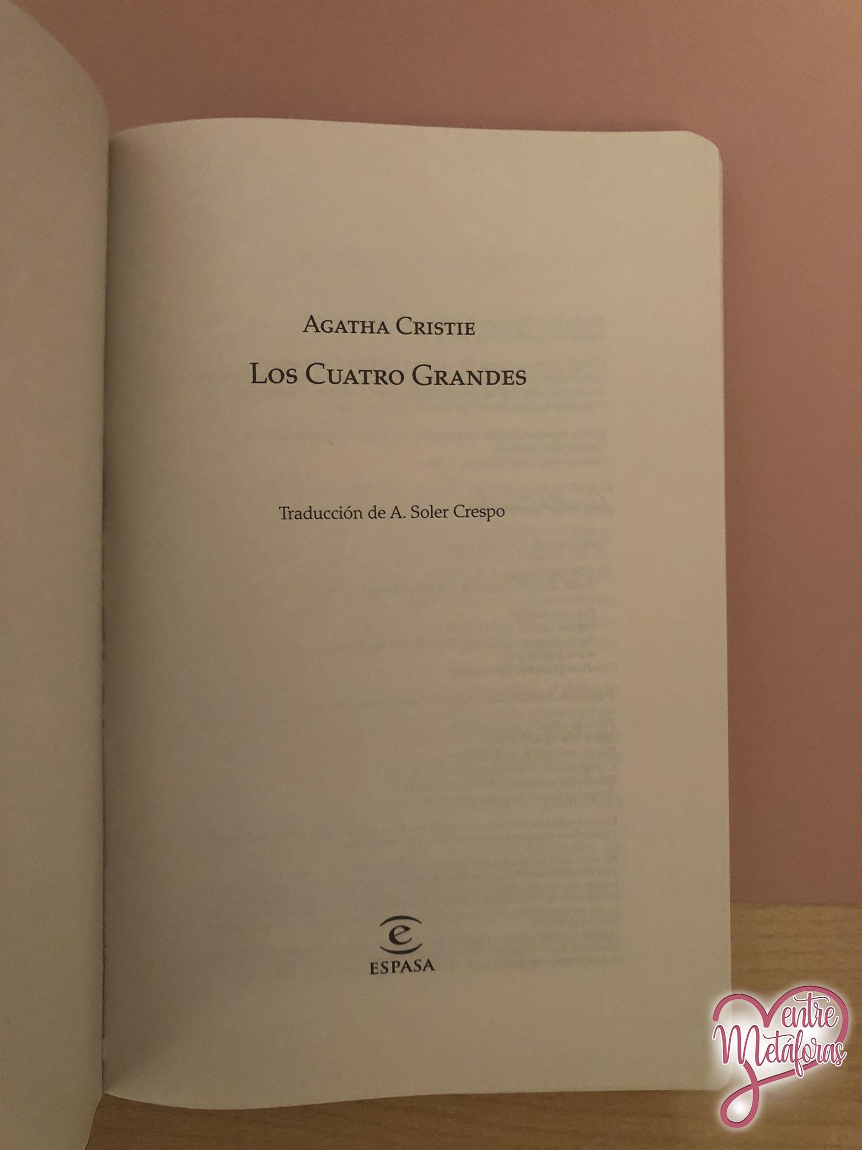 Los cuatro grandes, de Agatha Christie - Reseña