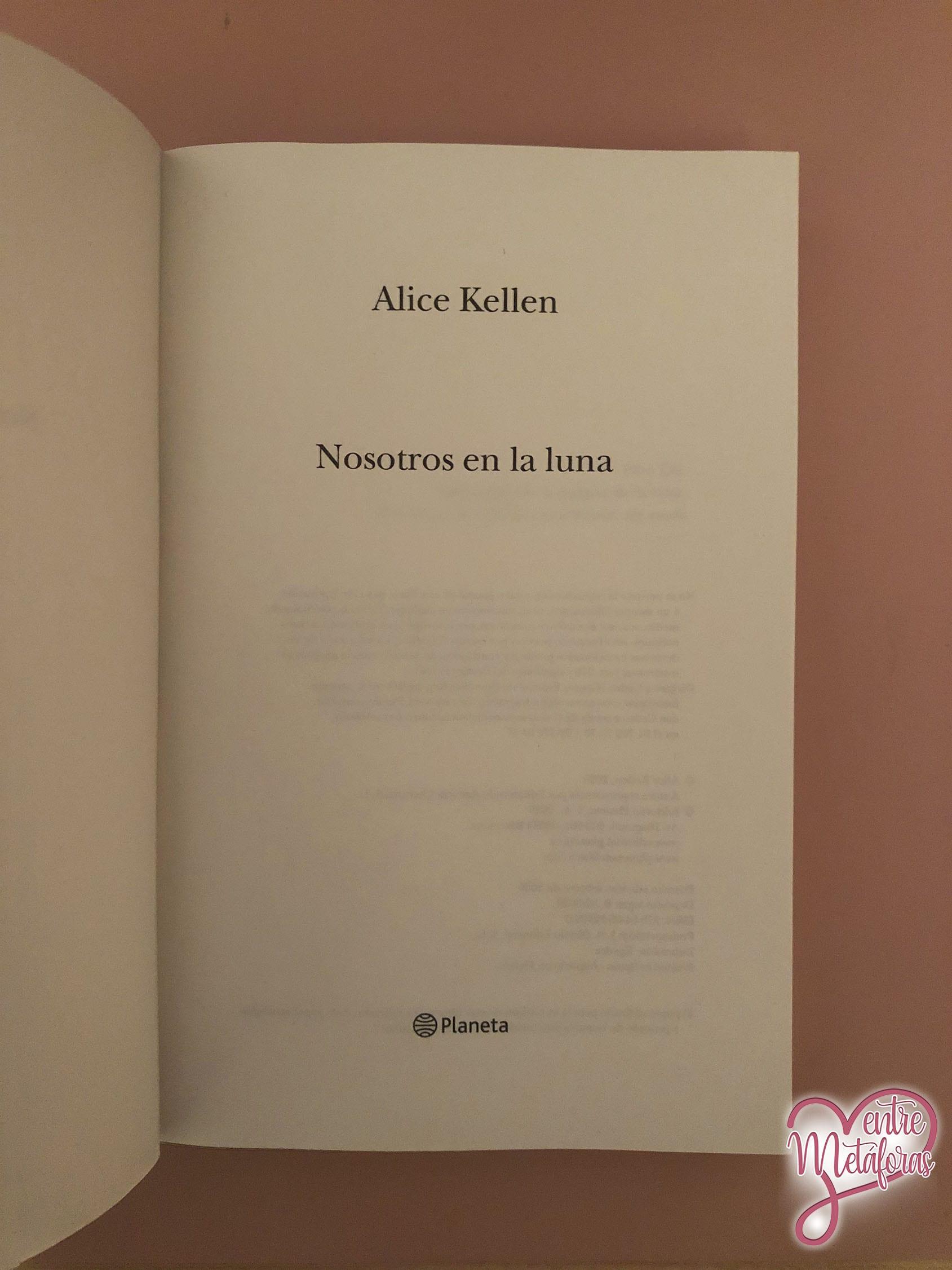 Nosotros en la luna, de Alice Kellen - Reseña