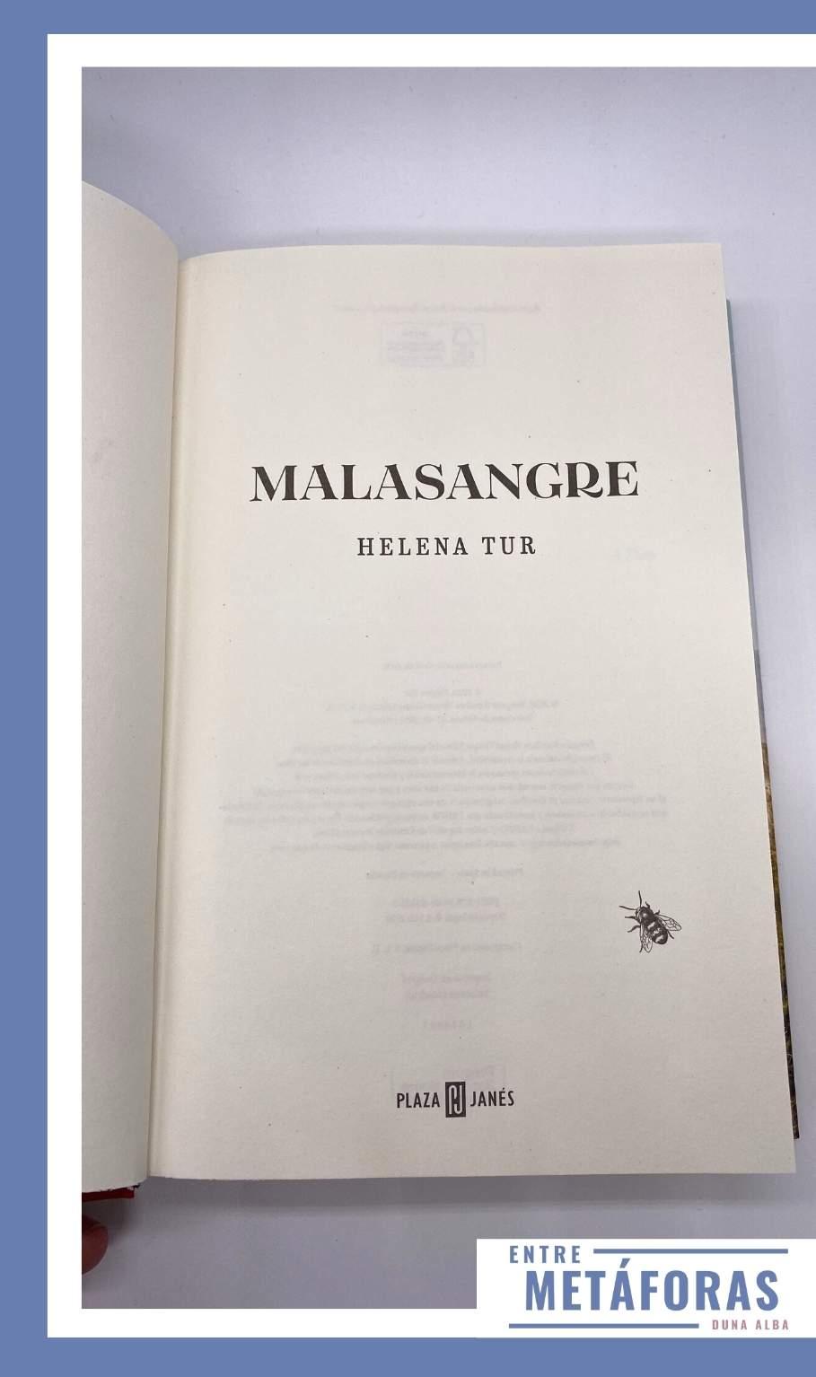 Malasangre, de Helena Tur