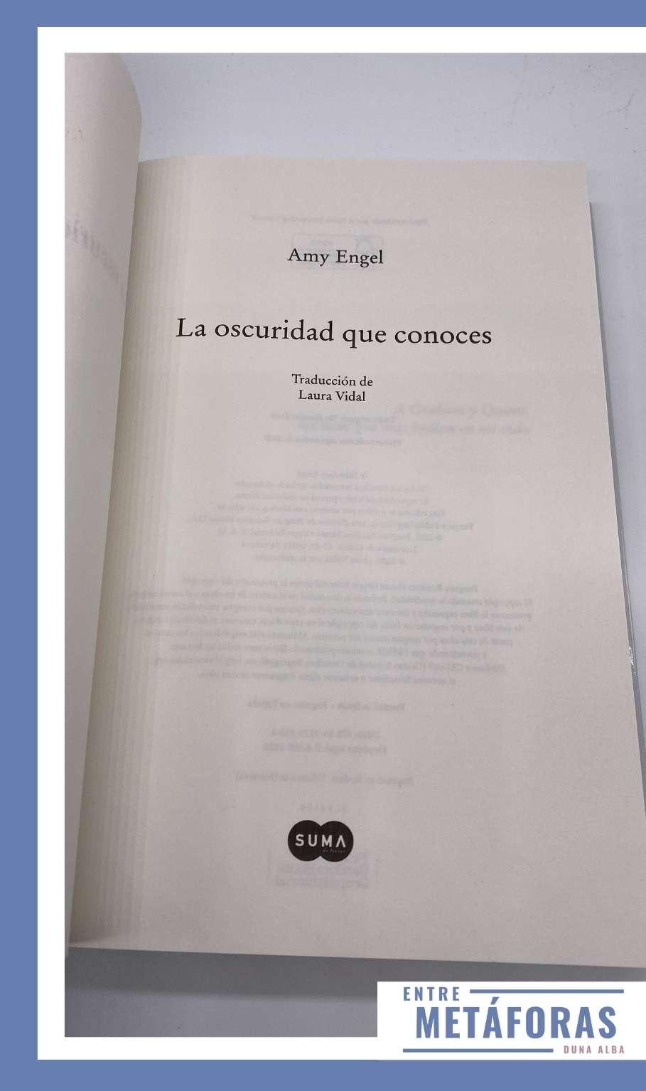 La oscuridad que conoces, Amy Engel