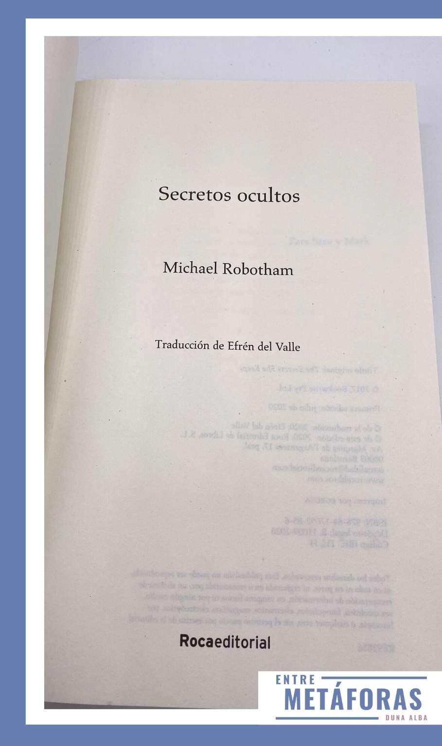 Secretos ocultos, de Michael Robotham