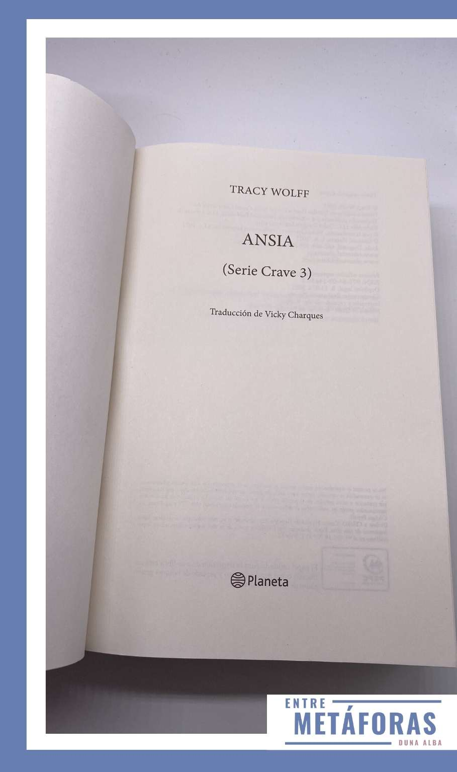 Ansia (Crave #3), de Tracy Wolff