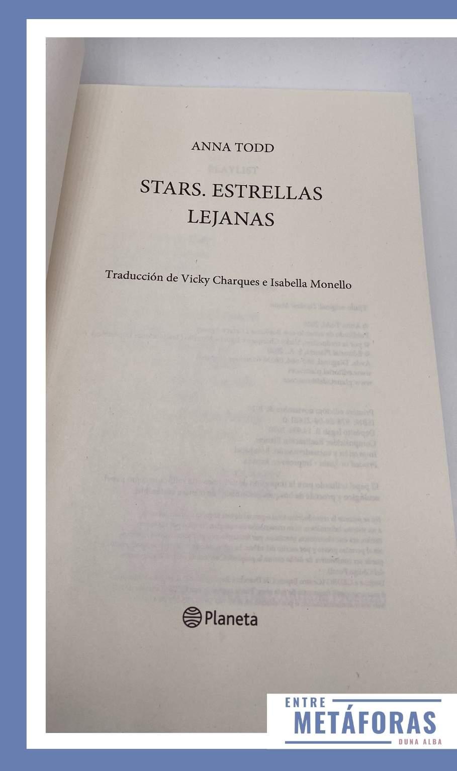 Stars, Estrellas lejanas, de Anna Todd