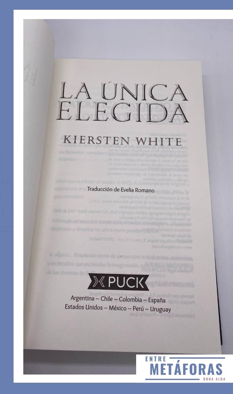 La única elegida, de Kiersten White