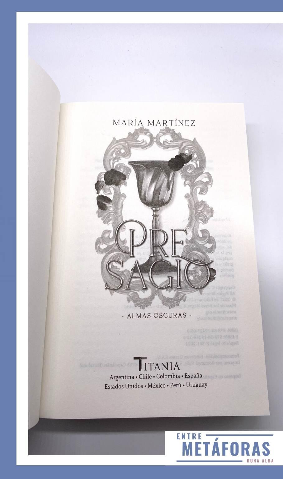 Pacto de Sangre #2 - Presagio, de María Martínez