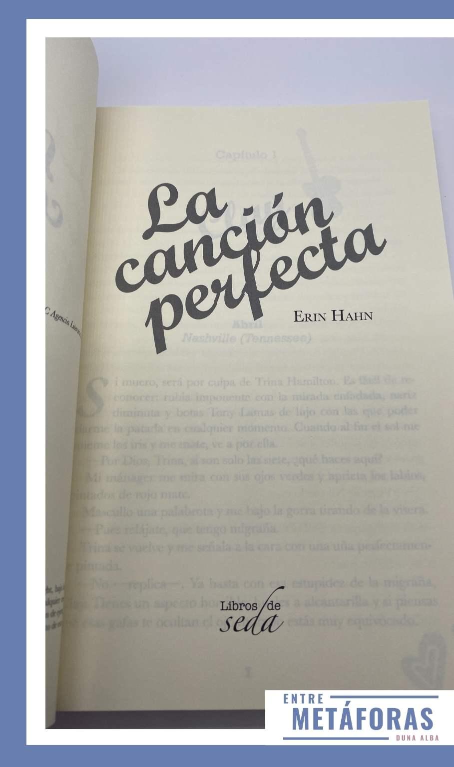 La canción perfecta, de Erin Hahn