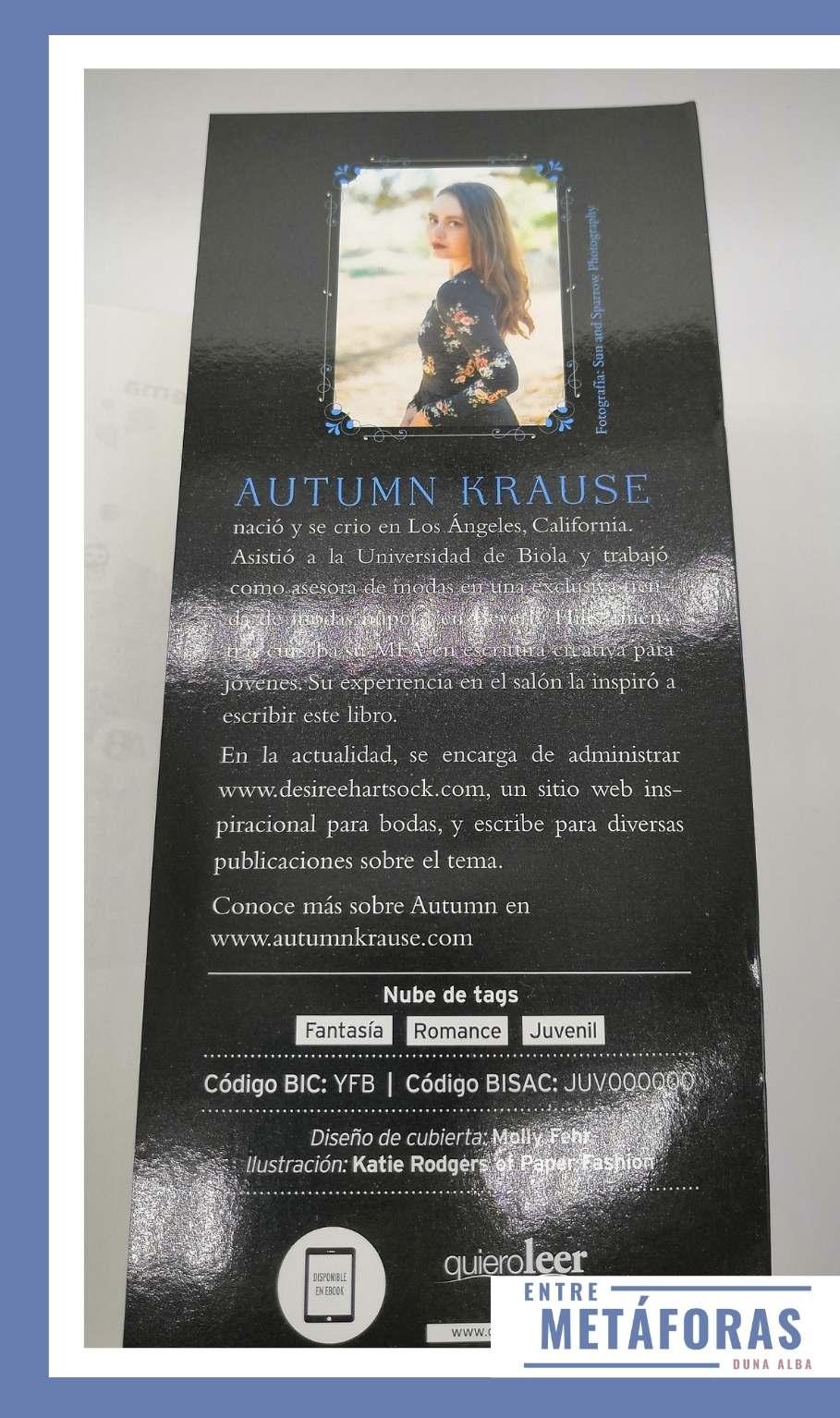 Un vestido para los malditos, de Autumn Krause