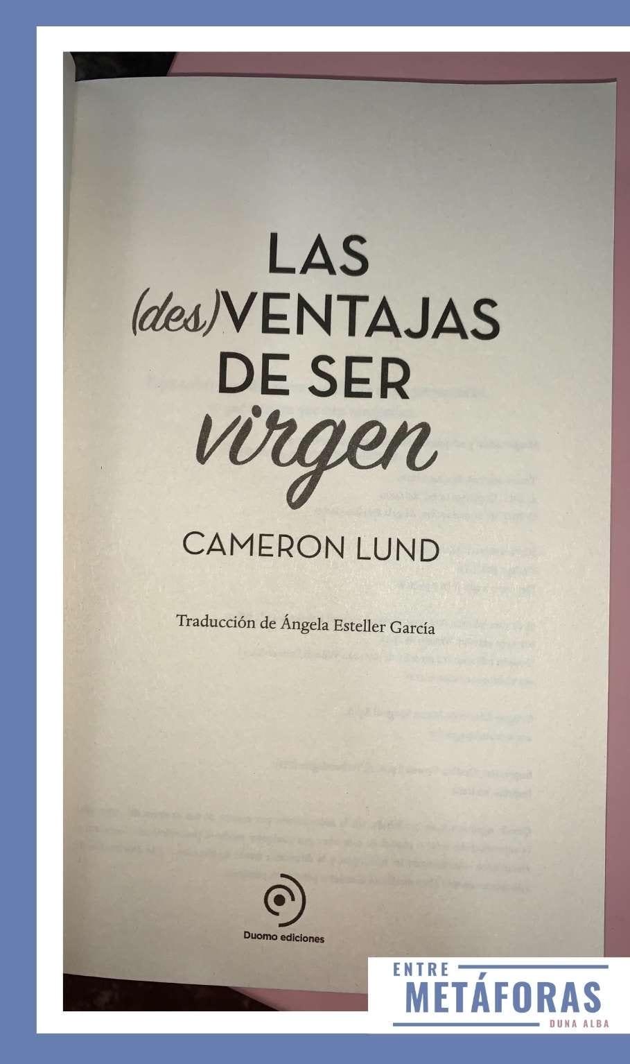 Las (des)ventajas de ser virgen, de Camerón Lund