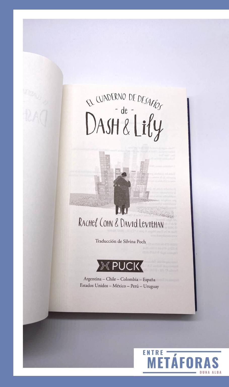 El cuaderno de desafíos de Dash y Lily