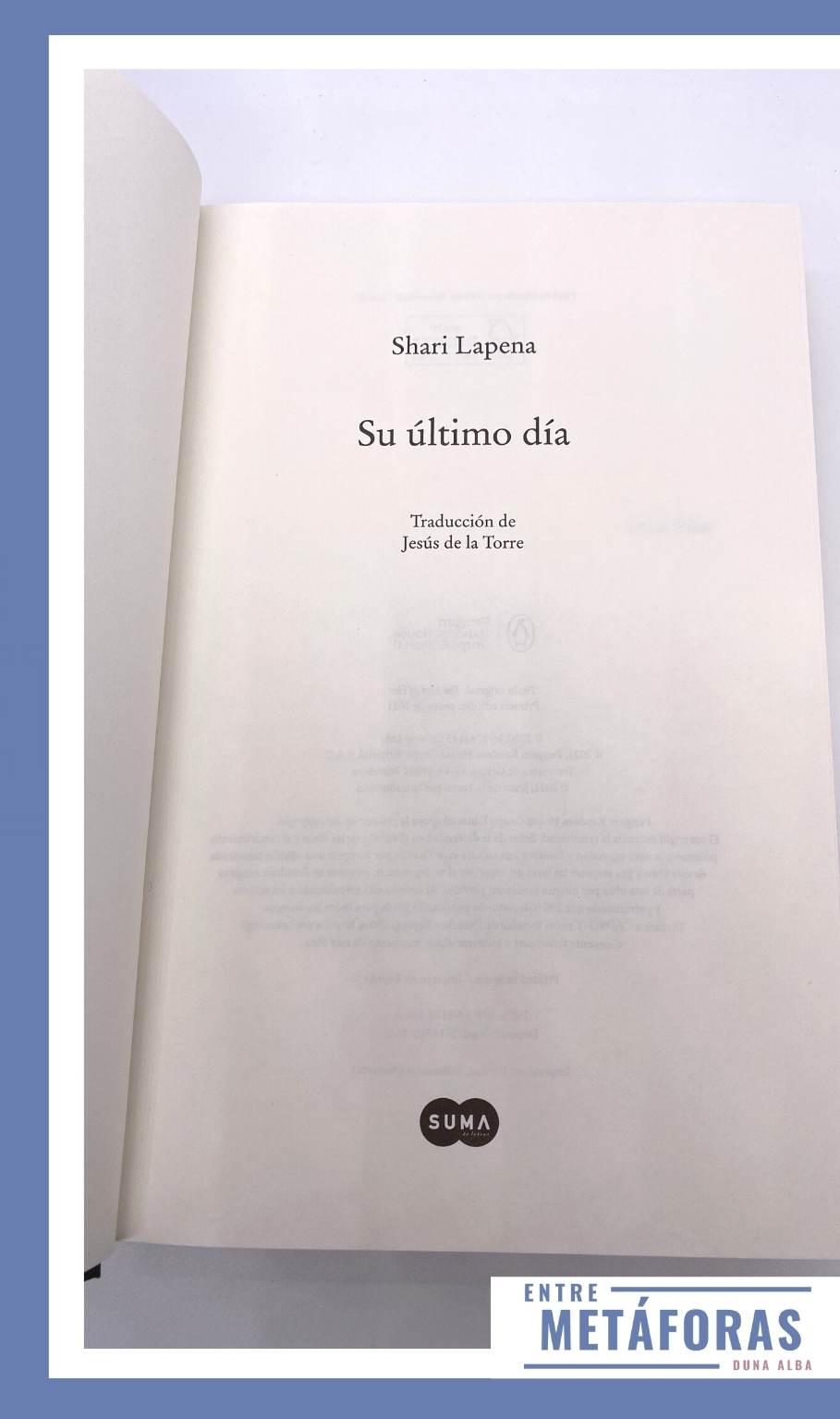Su último día, de Shari Lapena
