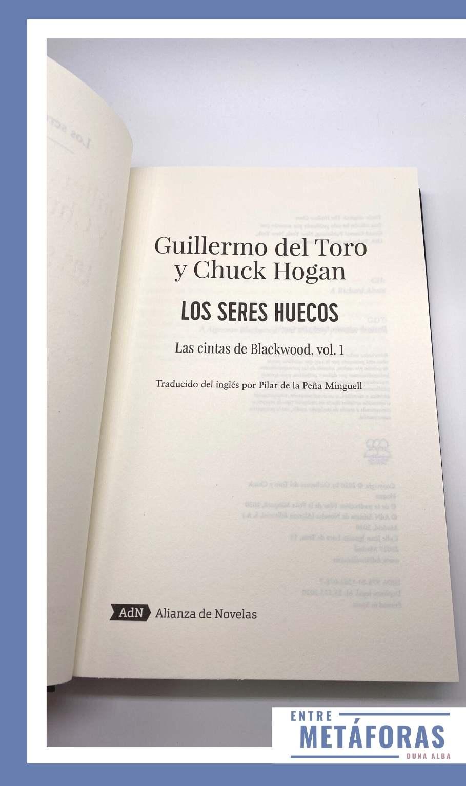 Los seres huecos, de Guillermo del Toro y Chuck Hogan