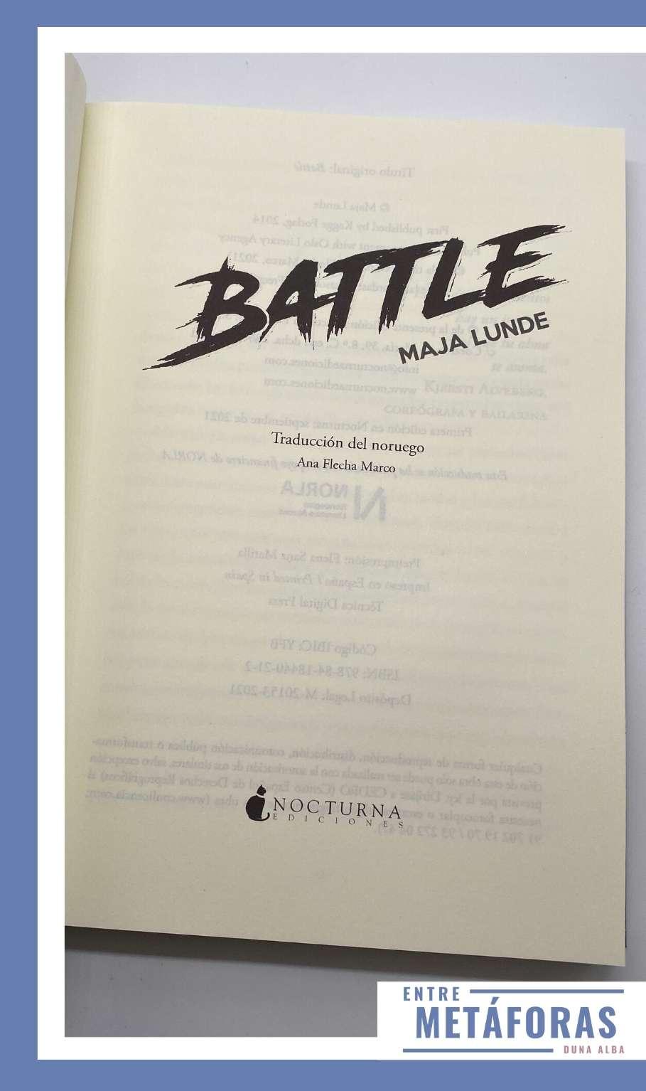 Battle, de Maja Lunde