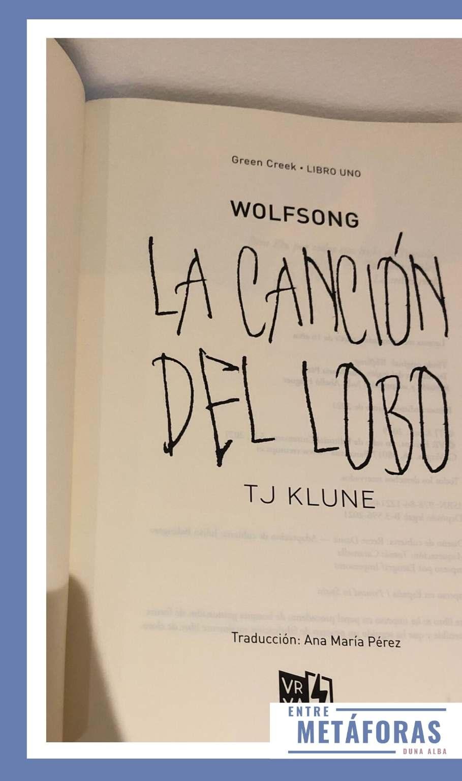 La canción del lobo, de TJ Klune