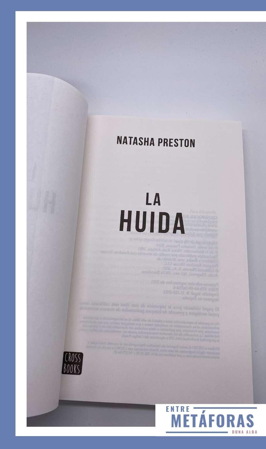 La huida, de Natasha Preston