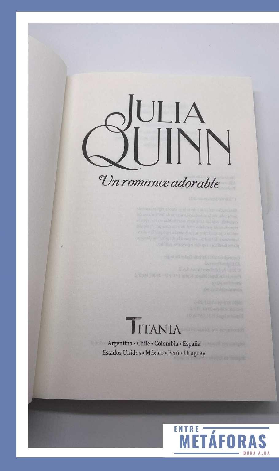 Un romance adorable, de Julia Quinn